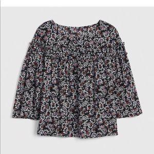 Gap tiered ruffle top blouse XL NWT